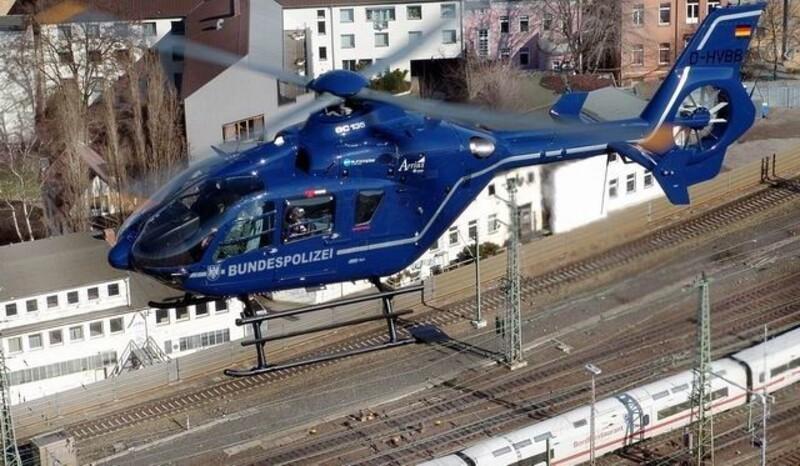 Hubschrauber der Bundespolizei. Einsatz am letzten Wiesnsamstag, © Bild: Bundespolizei