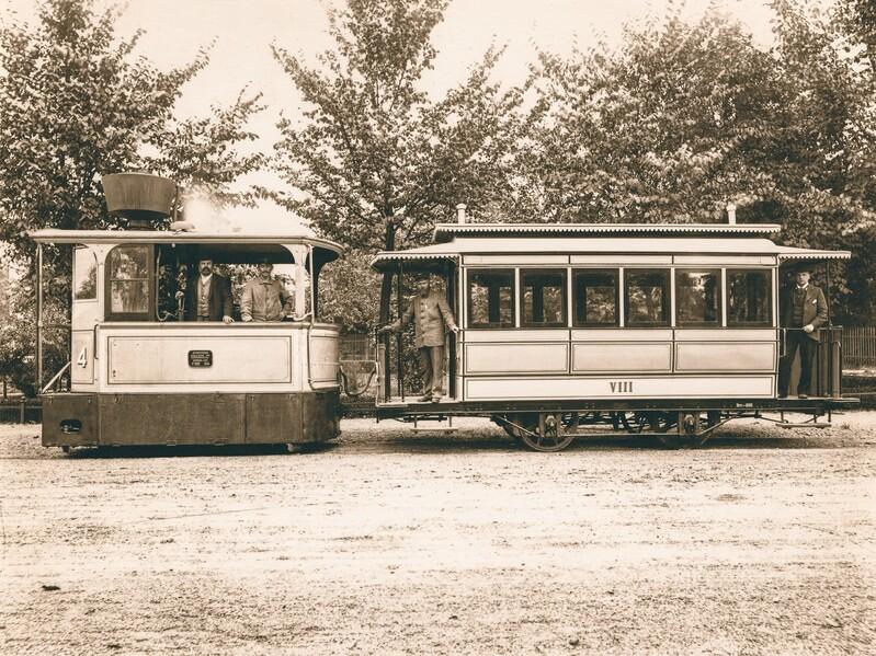 Dampftram, © Foto: Bildarchiv der Freunde des Münchner Trambahnmuseums e.V.