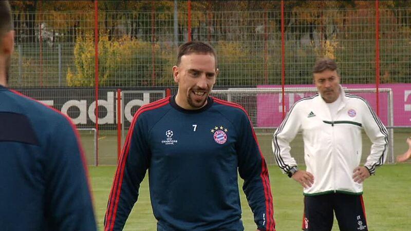 Franck Ribéry beim Training des FC Bayern München, © Franck Ribery