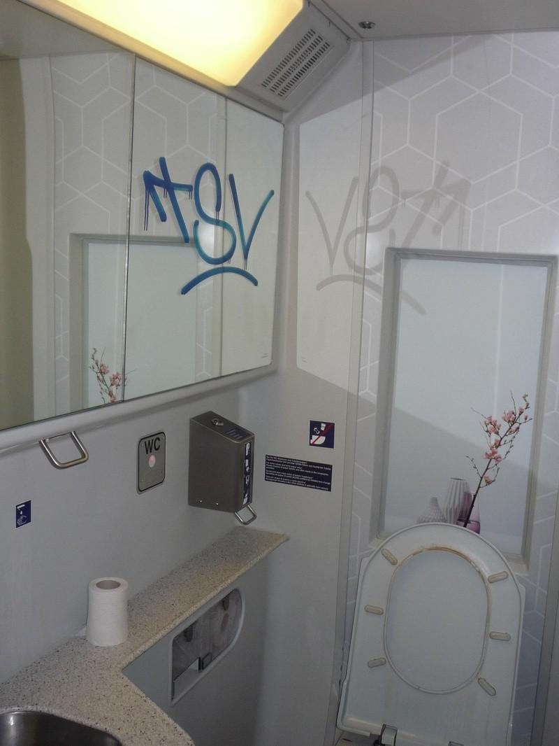 Eine verschmutzte Toilette im ICE, © Bundespolizei
