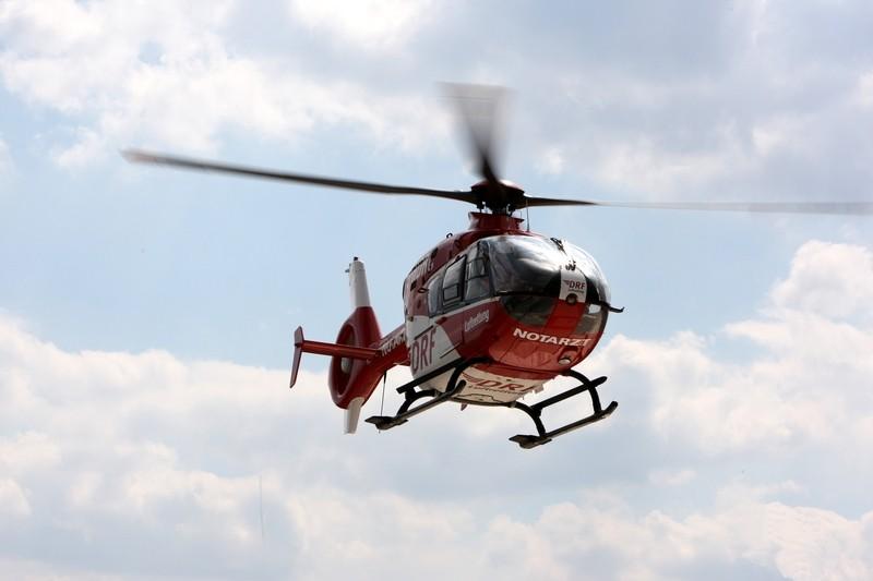 Hubschrauber der DRF Luftrettung beim abheben, © Symbolbild - Foto: DRF Luftrettung