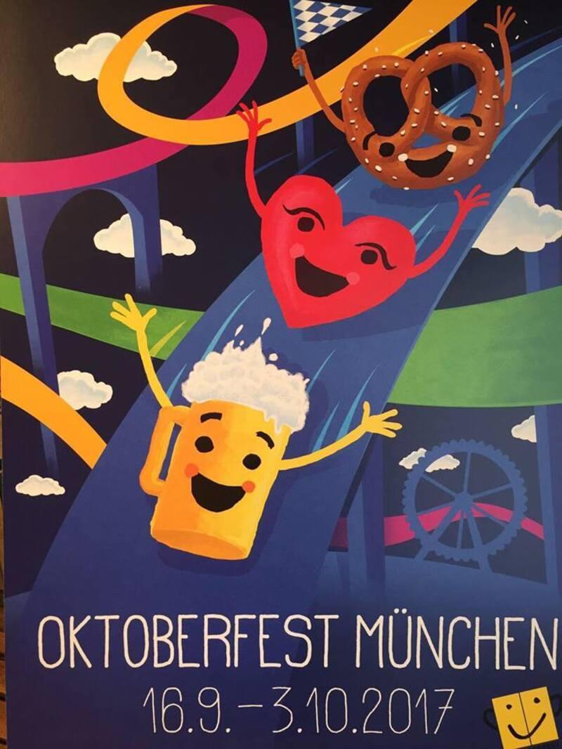 © Dieses Wiesn-Plakat für Oktoberfest 2017 belegte Platz 3