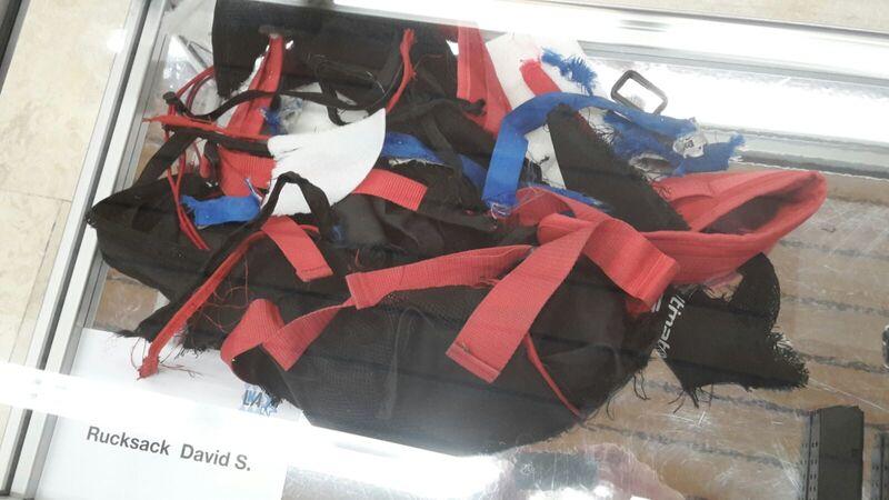 Rucksack des Amokläufers vom OEZ