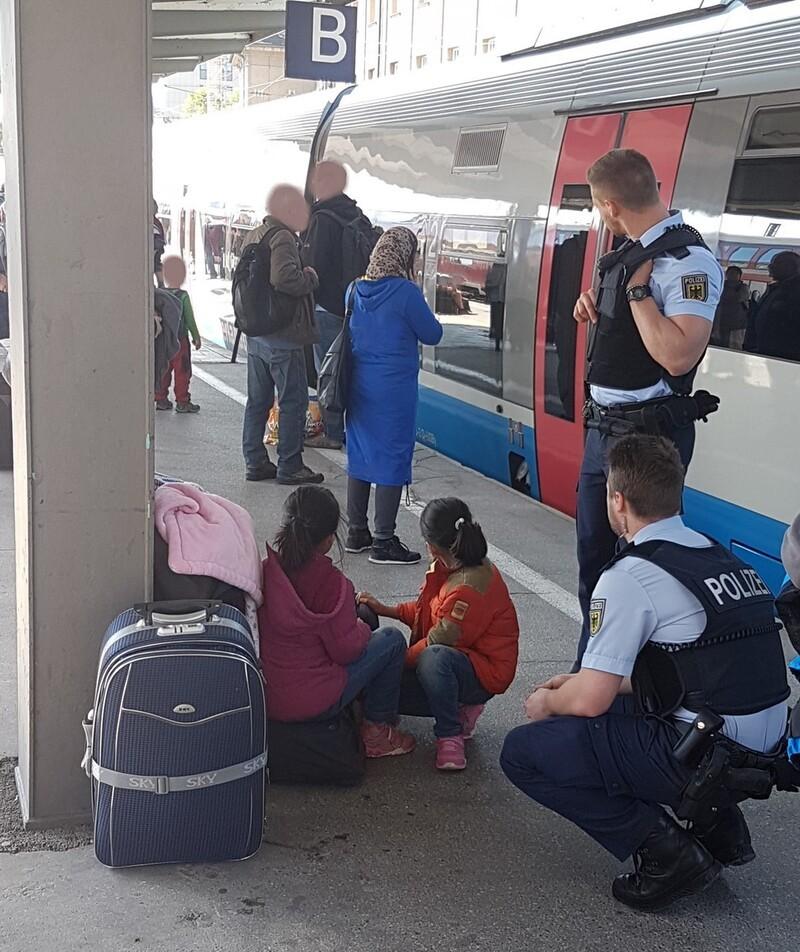 Verlassene Kinder am Münchner Hauptbahnhof, © Foto: Bundespolizei