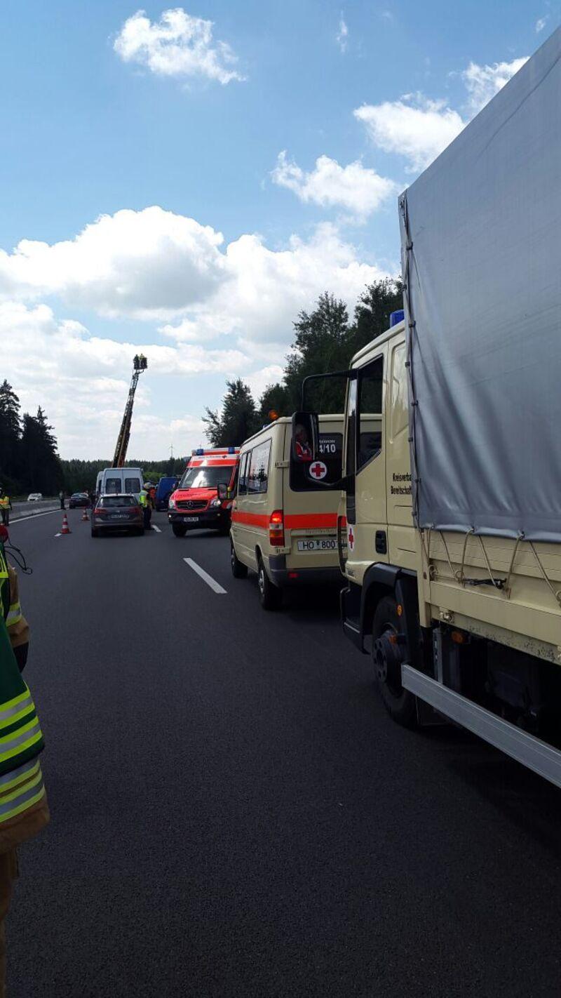 © Unfallstelle auf der A 9 bei Münchberg