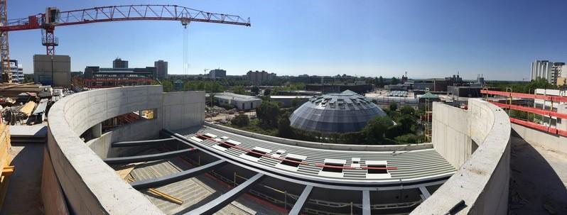 Die aktuelle Baustelle im PEP-Einkaufszentrum in München Neuperlach