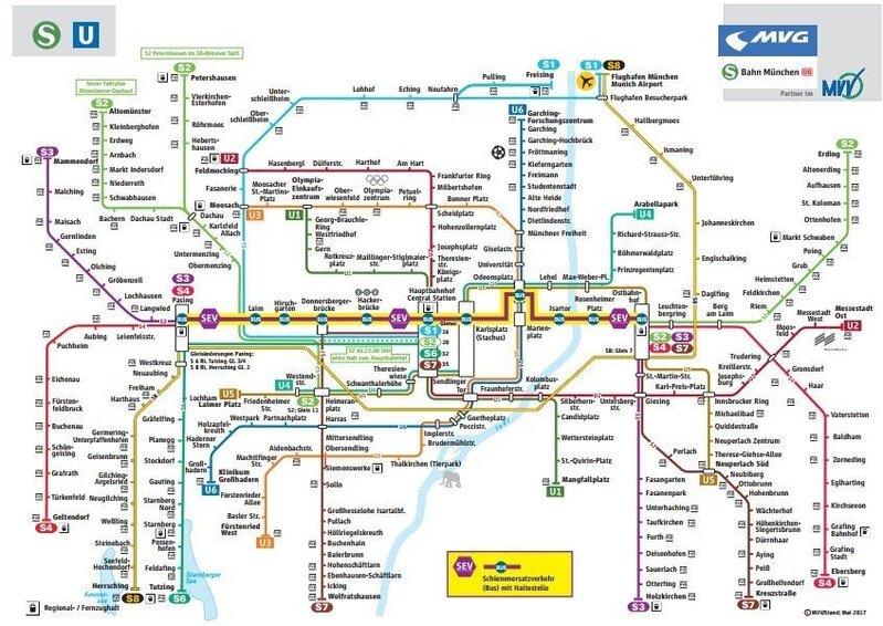 Schienenersatzverkehr auf der Münchner Stammstrecke