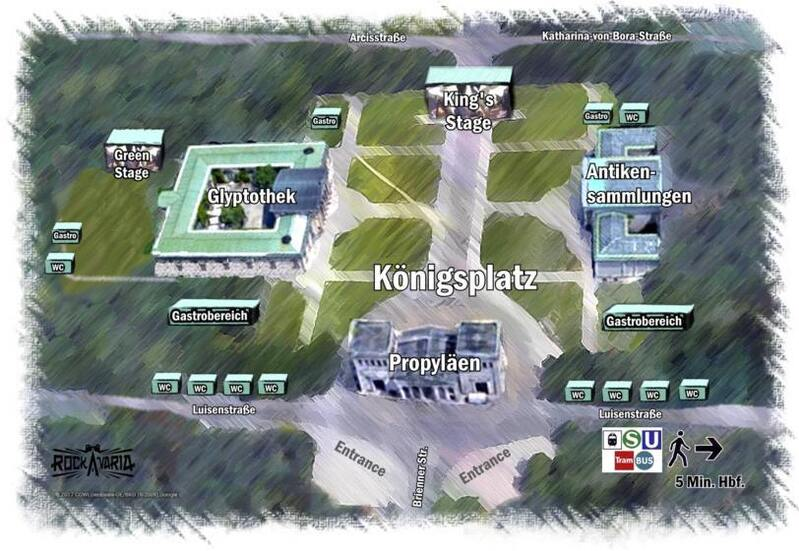 Rockavaria Karte Königsplatz