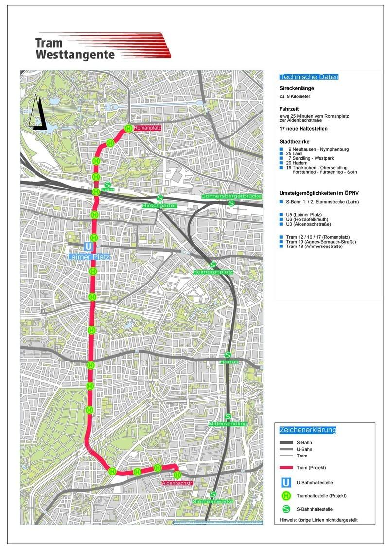 Tram, Westtangente, ÖPNV, Fürstenrieder Straße, MVG, © MVG