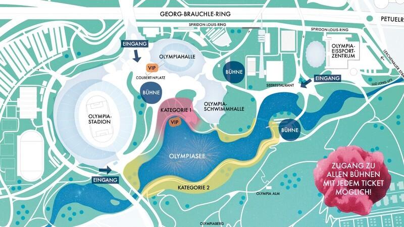 Lageplan Münchner Sommernachtstraum 2018