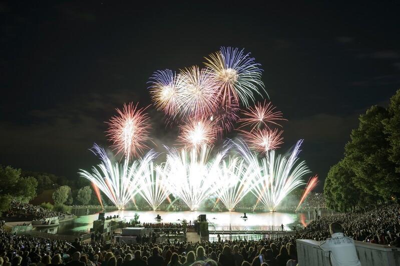 Feuerwerk auf dem Münchner Sommernachtstraum