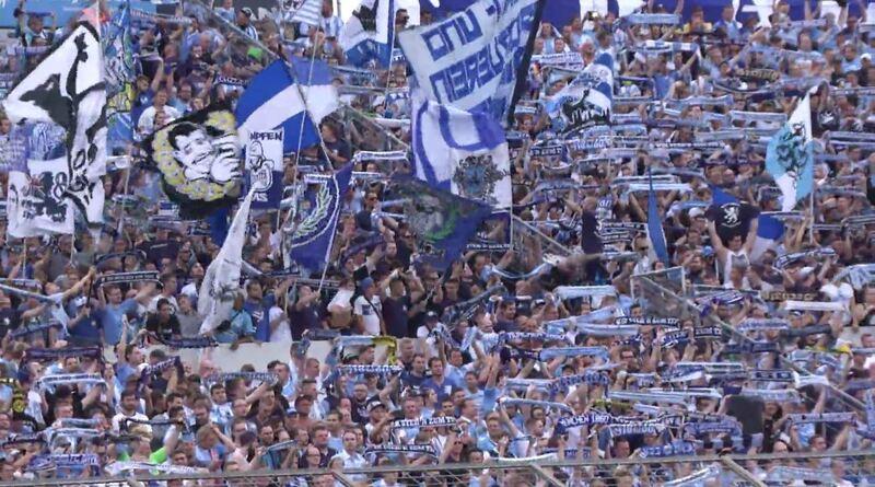 Fans des TSV 1860 München im Grünwalder Stadion