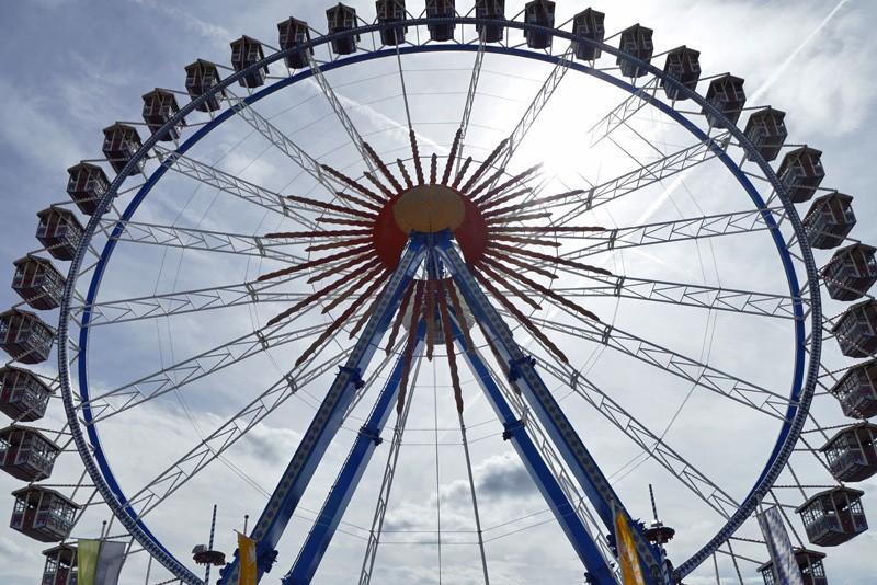Das Riesenrad auf dem Oktoberfest