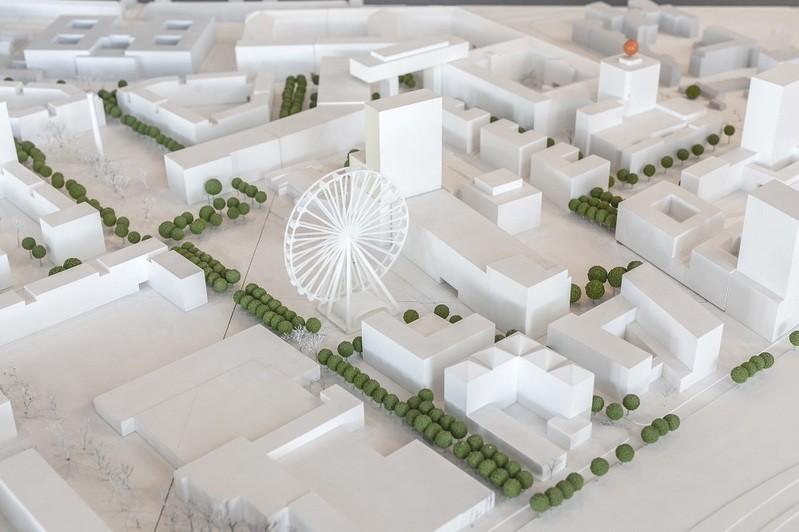 © Modell des Standorts des Riesenrads - Copyright: Werksviertel Mitte