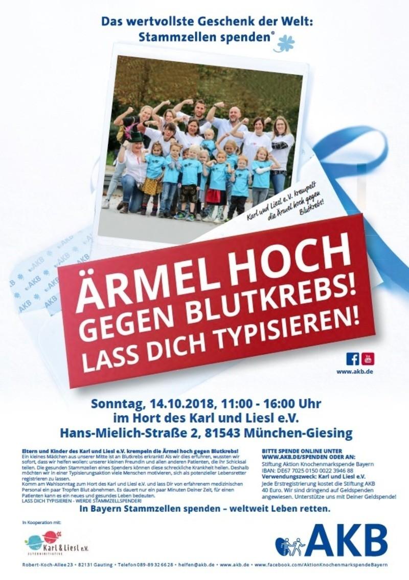Flyer für Typisierung in Untergiesing