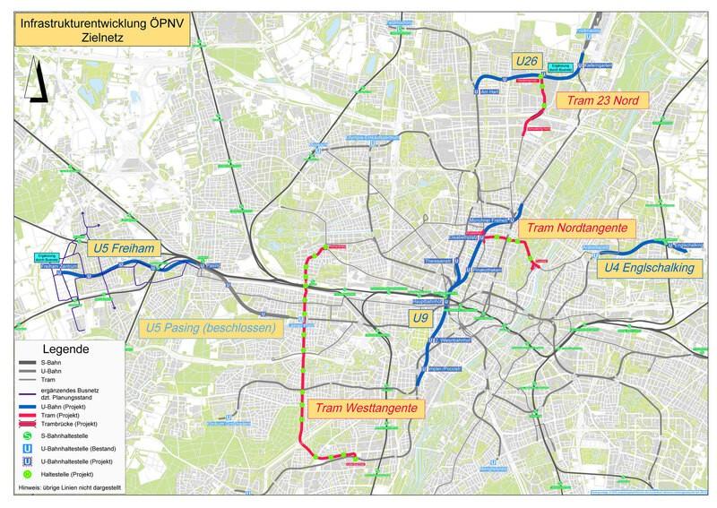 U-Bahn und Tram: Das soll in München ausgebaut werden