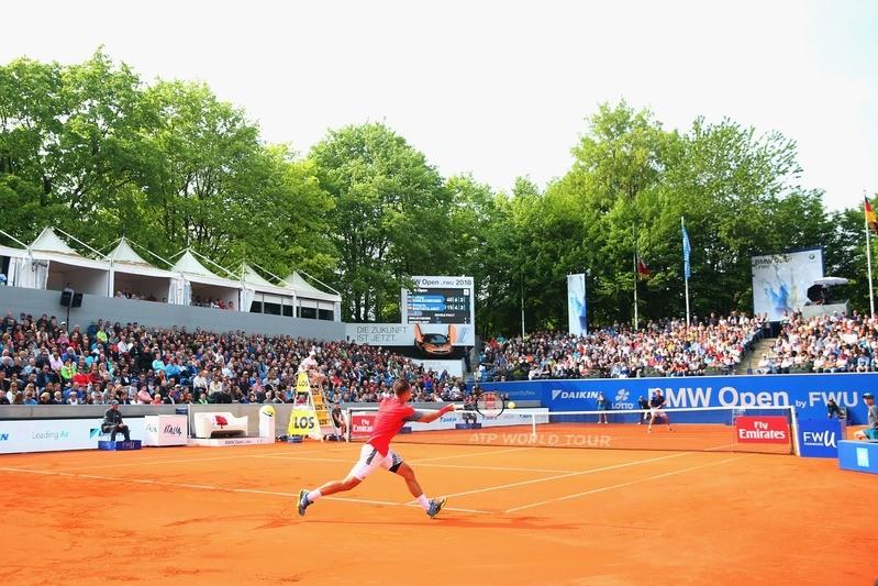 © Phillip Kohlschreiber auf dem Center Court der BMW Open in München