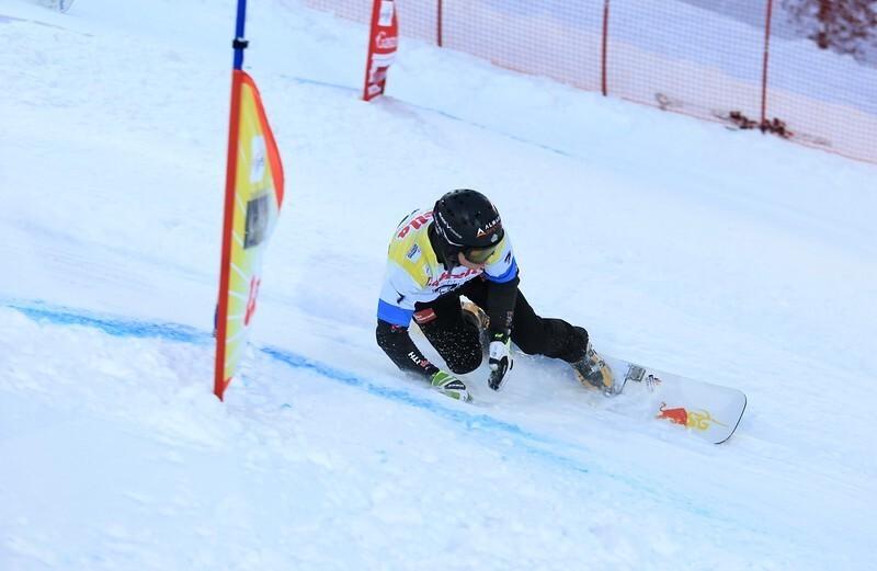 Stefan Baumeister rast zu seinem dritten Weltcupsieg, © © FIS Snowboard