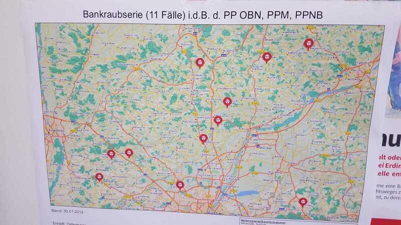 Banküberfallserie in Bayern