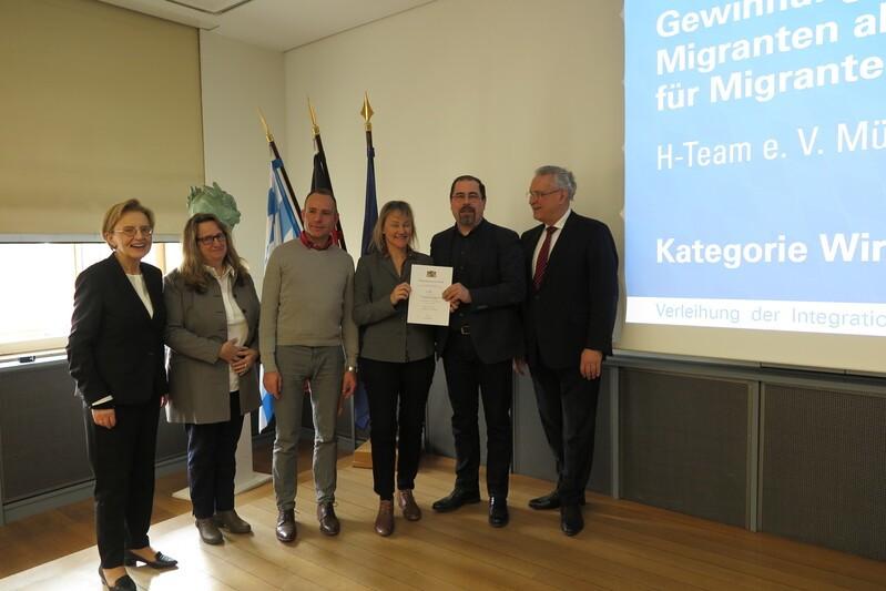 Integrationspreisträger Kategorie Wirtschaft: Betreuungsvereins des H-Team e.V., München