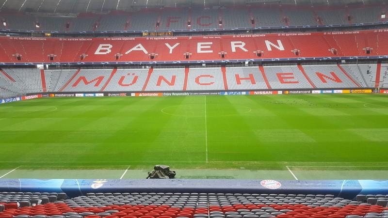 Gegengerade der Allianaz Arena in München
