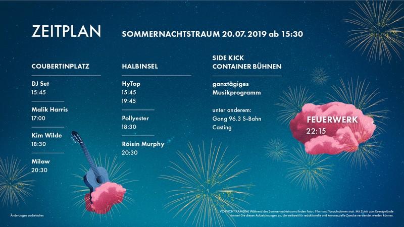 © Sommernachtstraum 2019 - Zeitplan