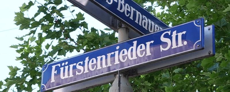 Straßenschild: Fürstenrieder Straße
