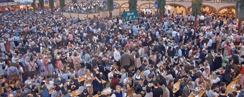 Live Webcam im Hofbräu Festzelt 24 Stunden auf der Wiesn