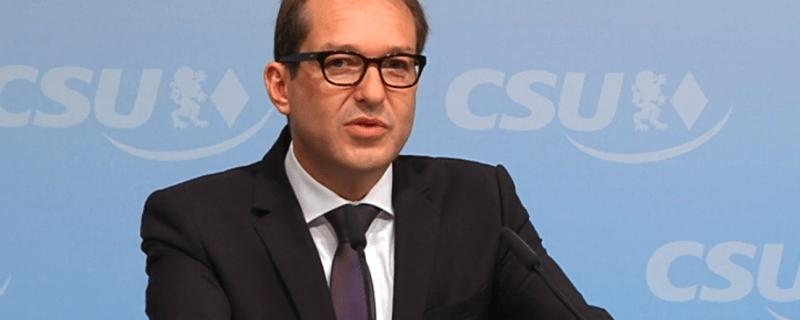 Alexander Dobrindt auf einer Pressekonferenz, © Alexander Dobrindt auf einer Pressekonferenz