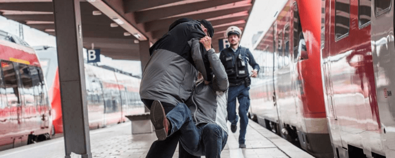 Einsatz der Bundespolizei auf einem Bahnhof, © Bundespolizei