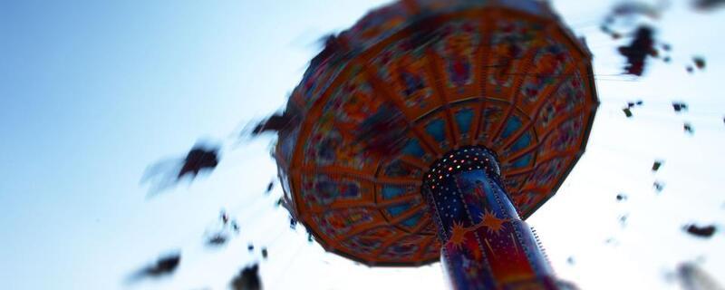 Kettenkarussel Oktoberfest Wiesn-Stmmungsbild