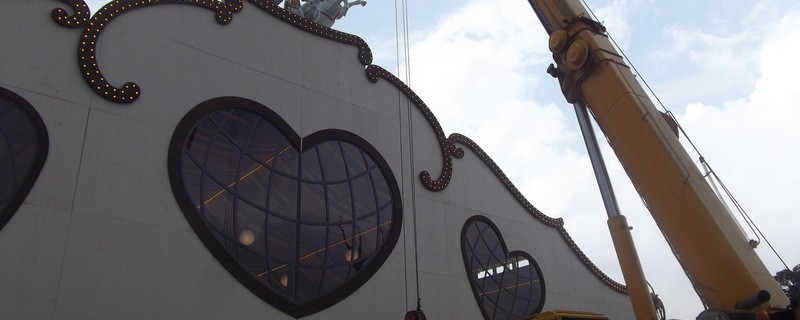 Marstall Wiesn 2014 Quadriga Aufbau Dach