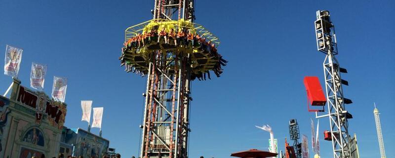 wiesn fahrgeschaeft free fall oktoberfest