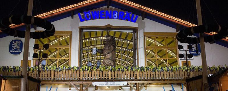 Oktoberfest München Löwenbräu Festzelt Wiesn, © Rico Güttich / münchen.tv