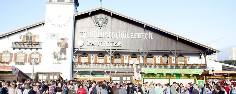 Armbrustschützenzelt Oktoberfest Wiesn München Eingang