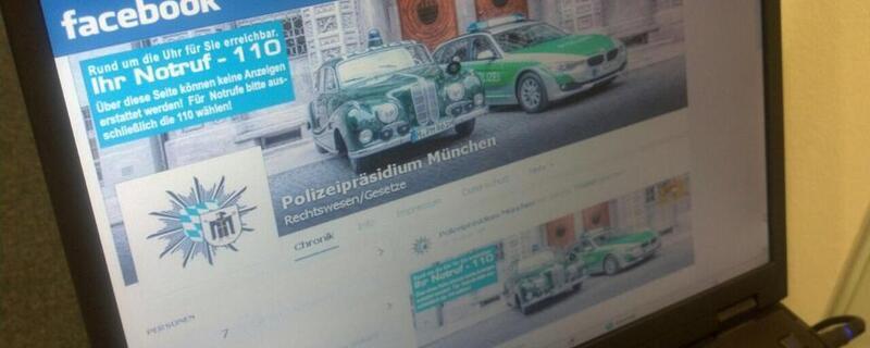 Polizei setzt bei G7-Gipfel auf Facebook und Twitter - Account Beispiel