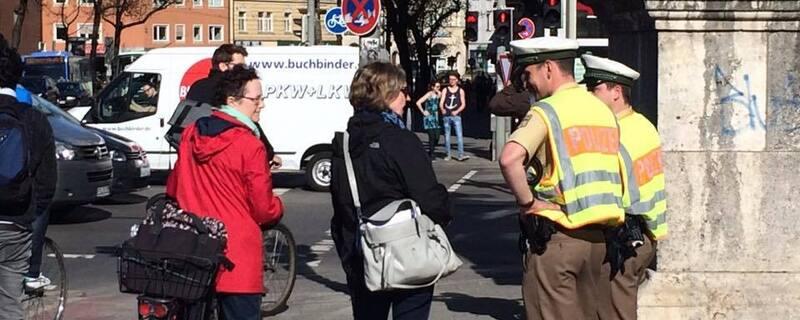 Verstärkte Fahrradkontrollen der Polizei in München