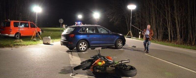 Tödlicher Motorradunfall auf der B11 bei Pullach, © Foto der Polizei München: Tödlicher Motorradunfall auf der B11 bei Pullach