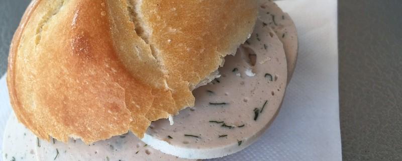 wurstsemmel gelbwurst brotzeit essen, © Danke an Metzgerei Friedl auf dem Viktualienmarkt