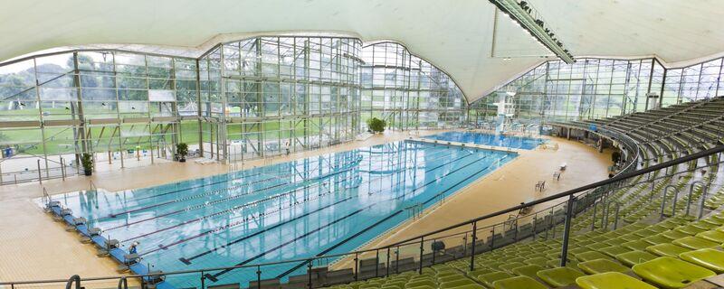 Schwimmbecken der Olympia-Schwimmhalle, © Foto: Stadtwerke München