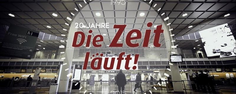 """Jubiläum Grafik """"Die Zeit läuft"""", © Bereits seit 20 Jahren moderiert Barry Werkmeister die Sendung """"Die Zeit läuft"""""""