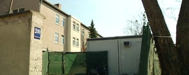 Die Flüchtlingsunterkunft an der Funkkaserne, © Das Areal der ehemaligen Funkkaserne wird zum Modellprojekt der Stadt Foto: Archiv