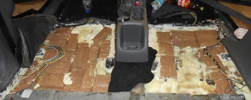 46 kg Haschisch im Kofferraum, © Foto: Polizei Rosenheim