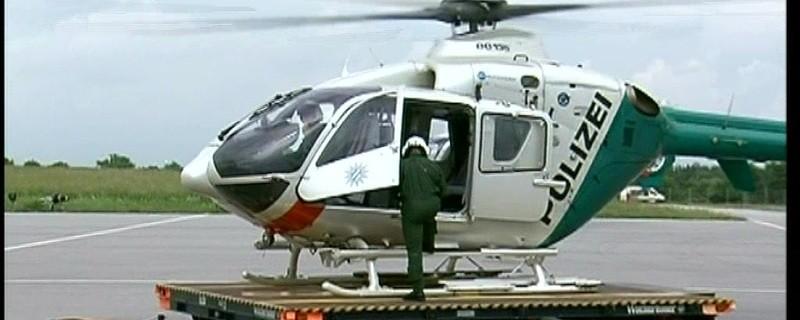 Hubschrauber der Polizei im Einsatz., © Symbolfoto