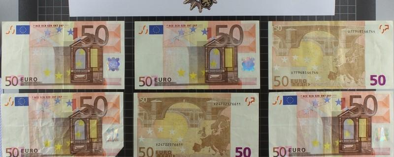 Falscher 50er Geldscheine, © Die Kripo Weilheim ist auf der Spur der Täter Foto: Polizei