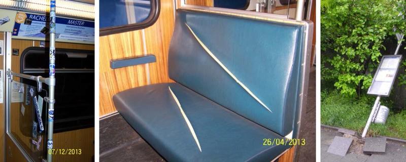 Durch Vandalismus entsteht ein hoher Schaden für die MVG, © Symbolfoto
