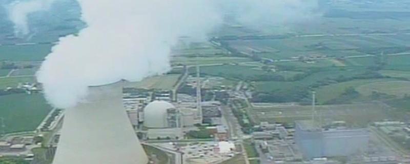 Atomkraftwerk in Bayern.