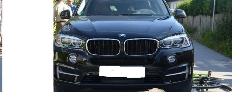 Unfallfahrzeug München Kind überrollt, © Von diesem BMW wurde die Schülerin überrollt. Foto: Polizei München