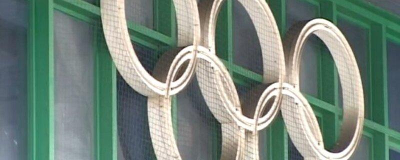 Die Olympischen Ringe.