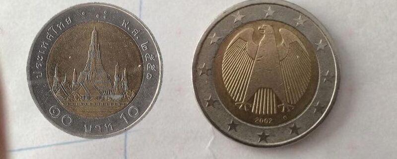 Thailändische Baht Als Falsche 2 Euro Münzen Im Umlauf Münchentv